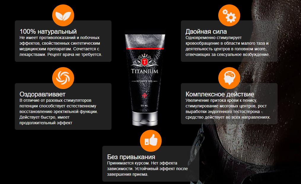 Преимущества Геля Титаниум (Titanium Gel)